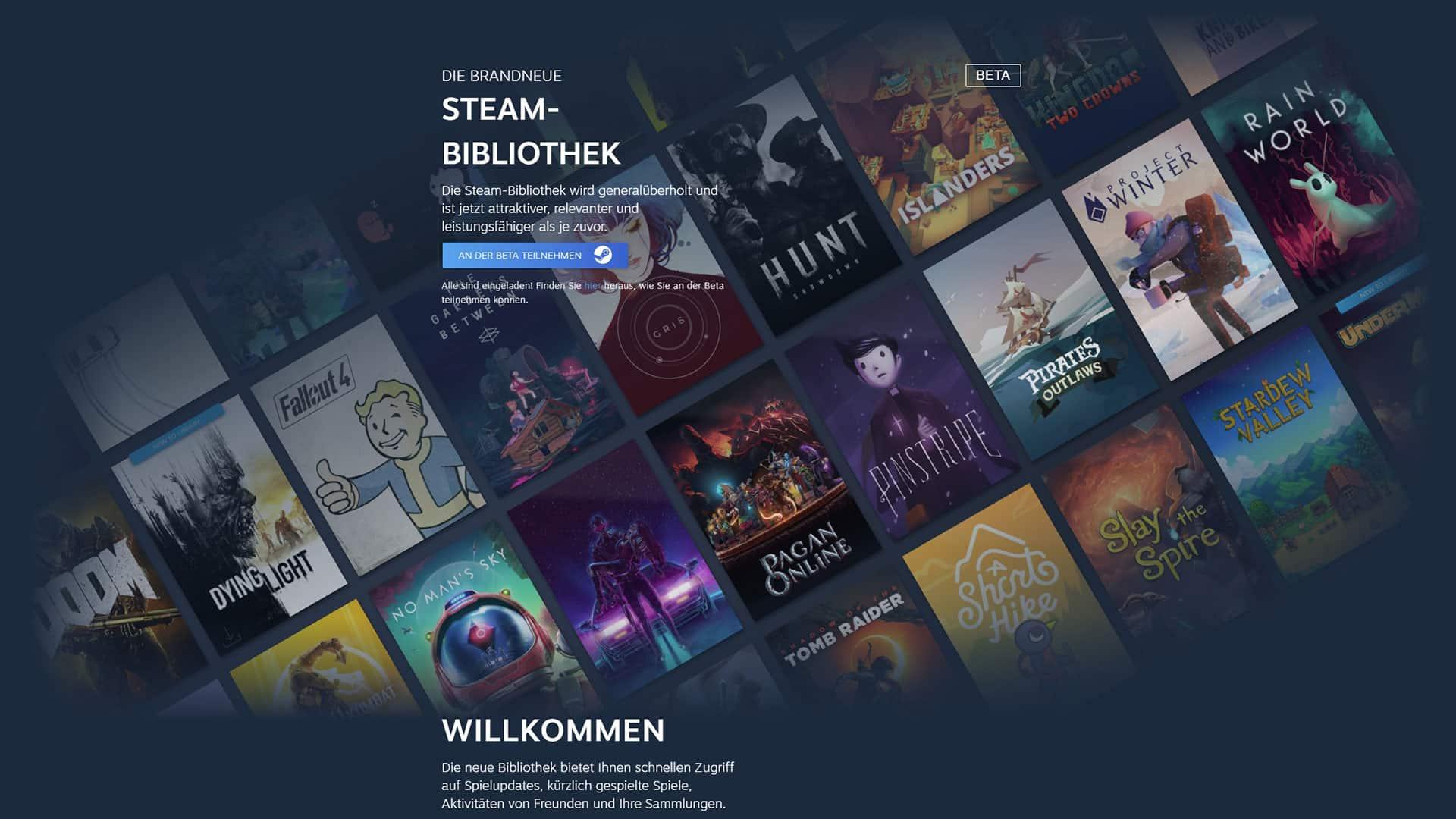 Neue Steam Bibliothek babt
