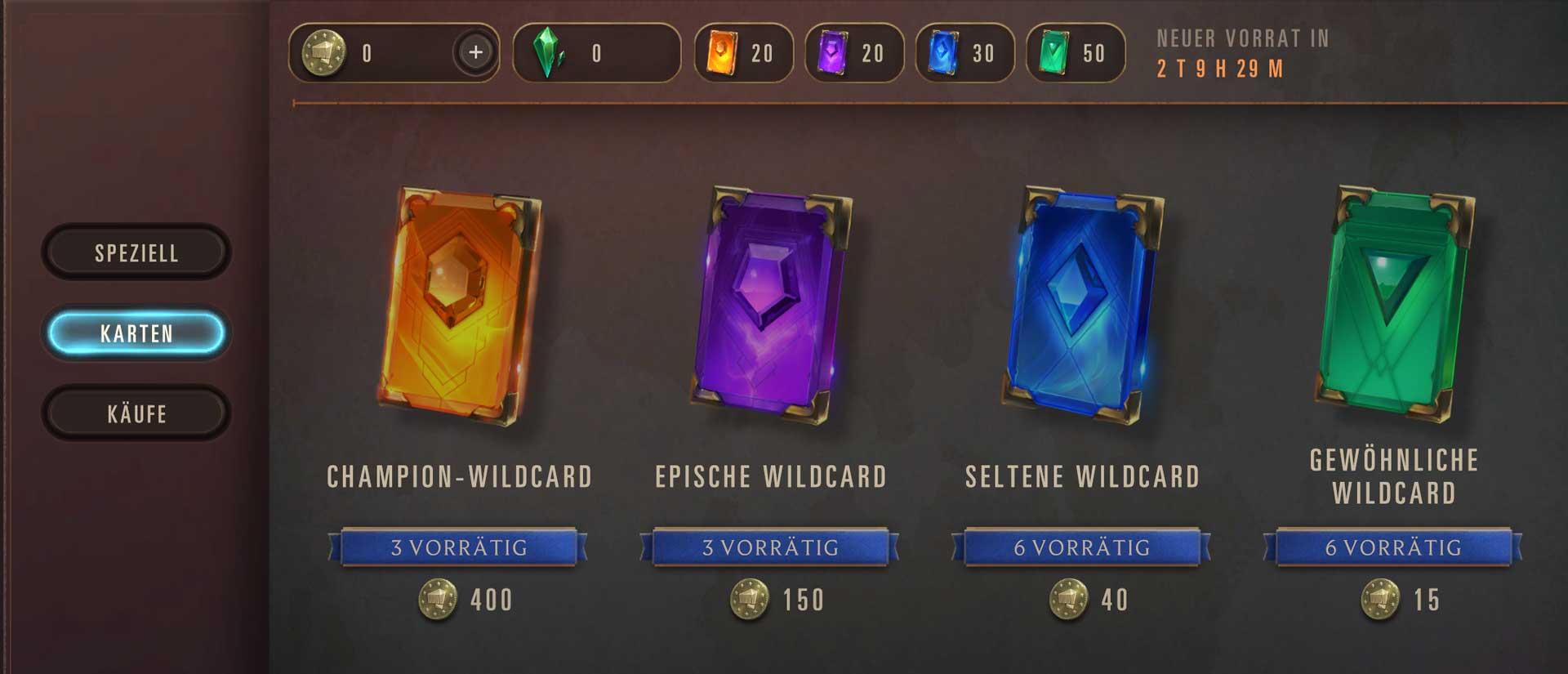 LoR Wildcards