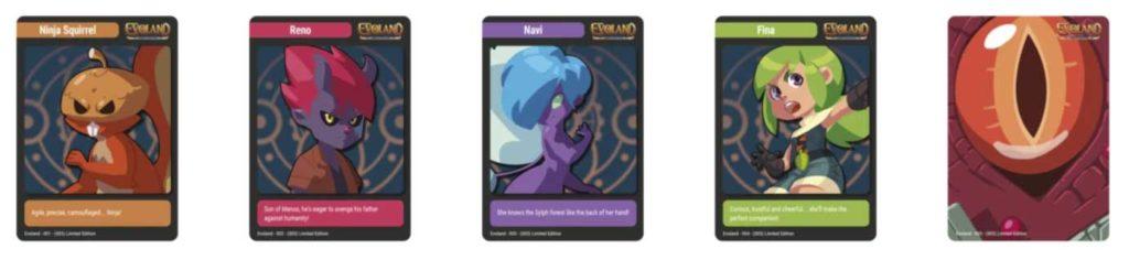 evoland trading cards