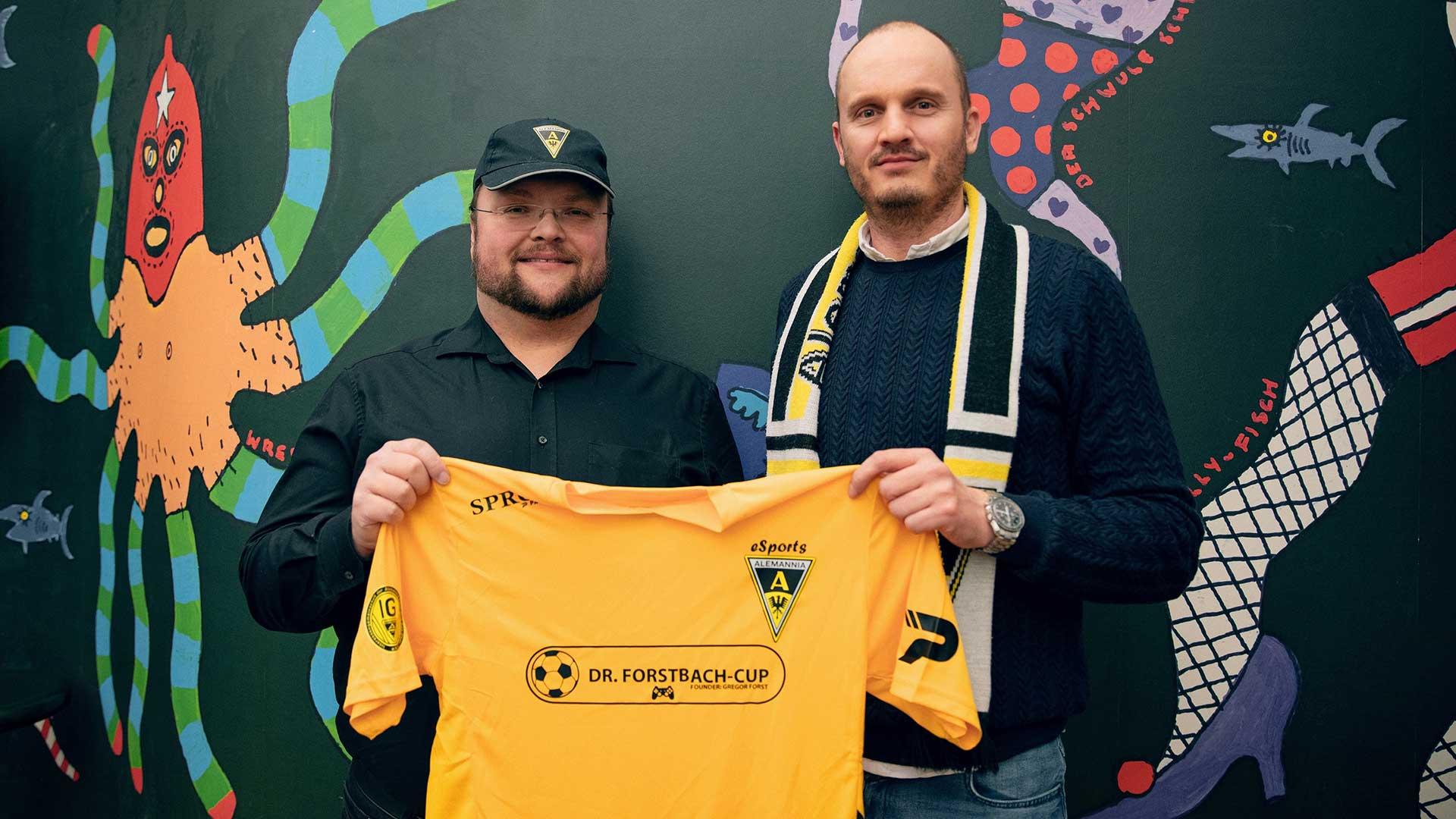 2020 01 22 Holger Hansen Gregor Forst Alemannia Aachen eSports l Bild Julia Raabe babt