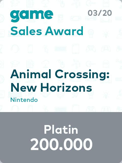 game Sales Award 20 03 Animal Crossing L
