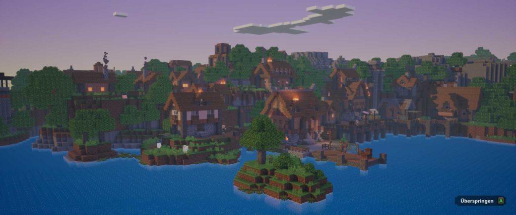 minecraft dungeons angespielt screen village