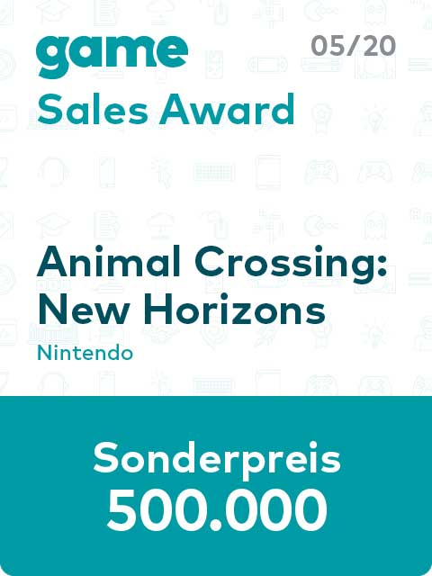 game Sales Award Label 20 05 Animal Crossing L babt