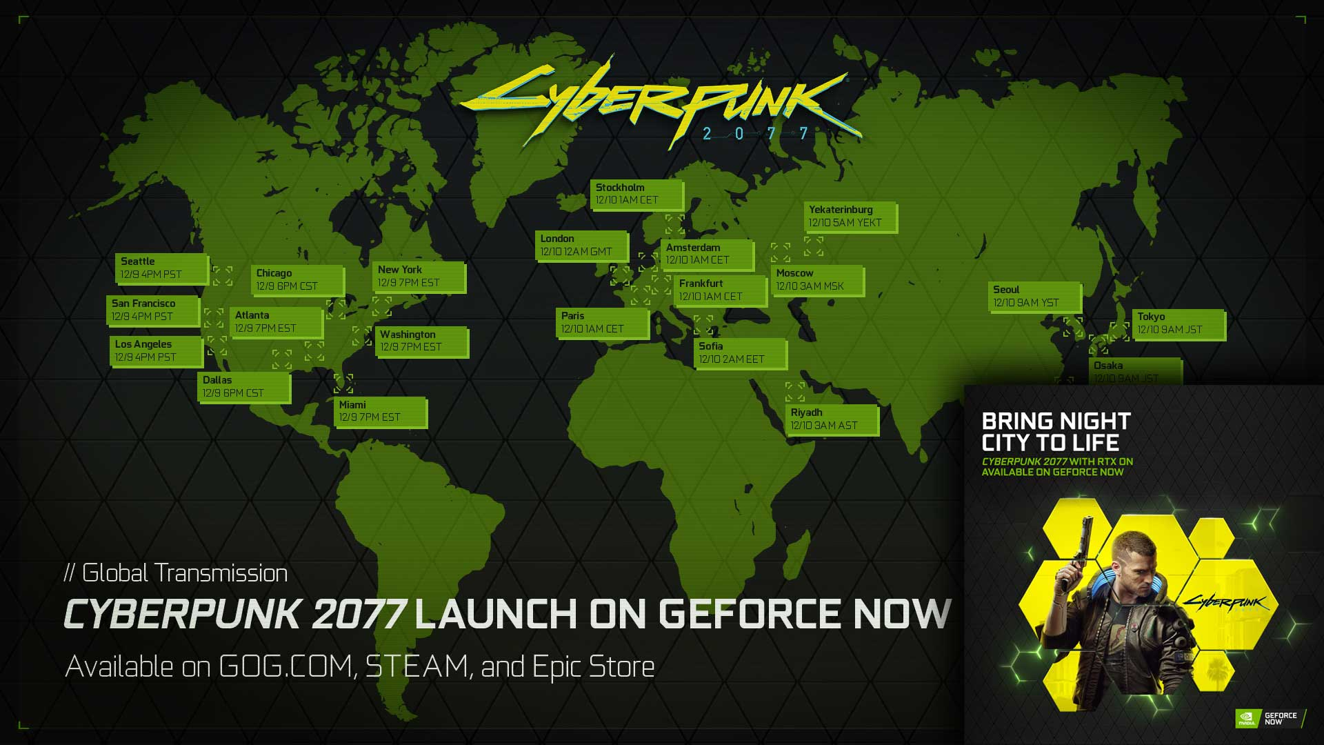 Stream Cyberpunk 2077 on GeForce NOW map babt