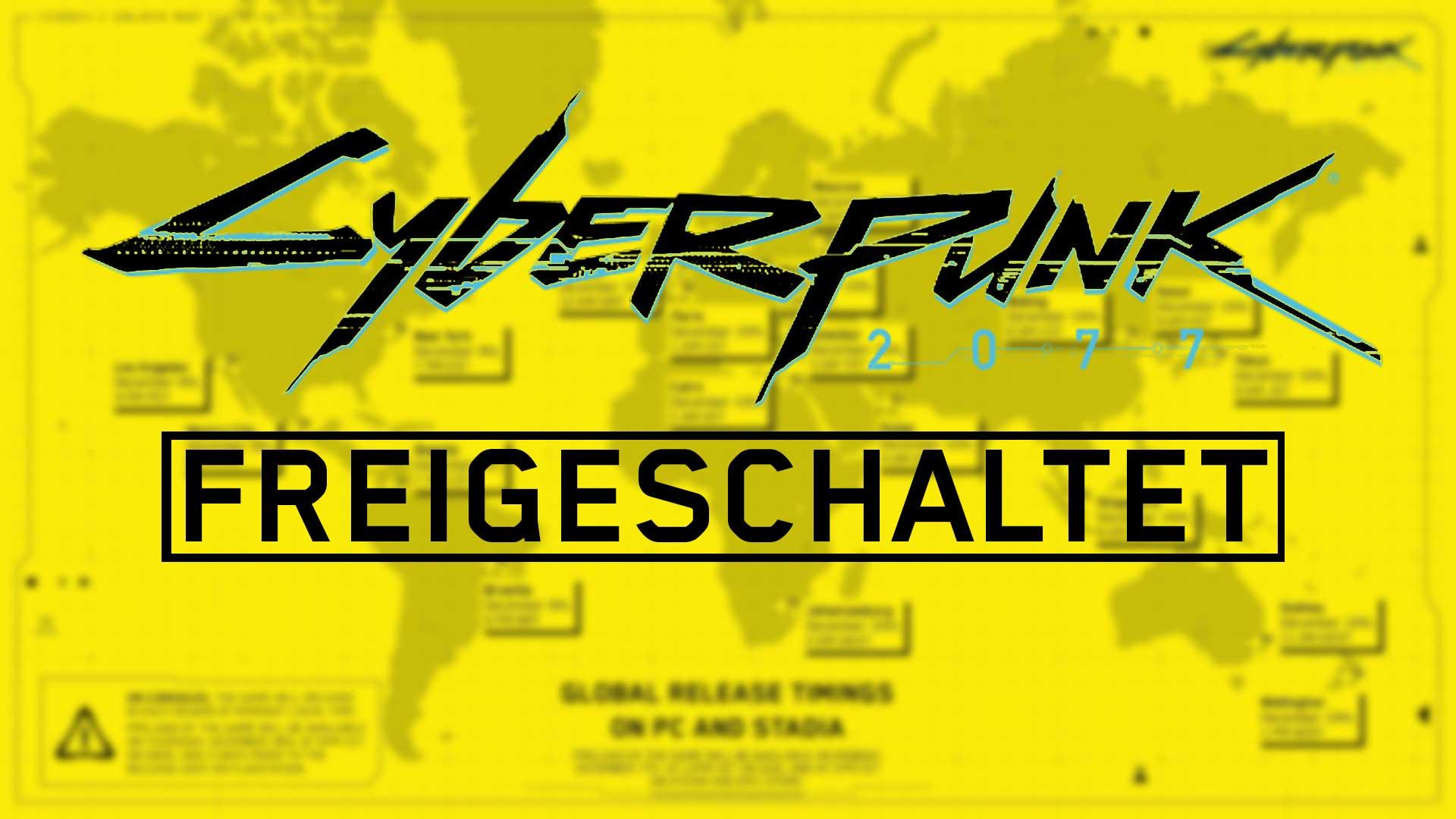 cyberpunk 2077 freigeschaltet