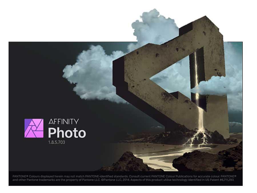 Affinity Photo dient zur Bearbeitung.