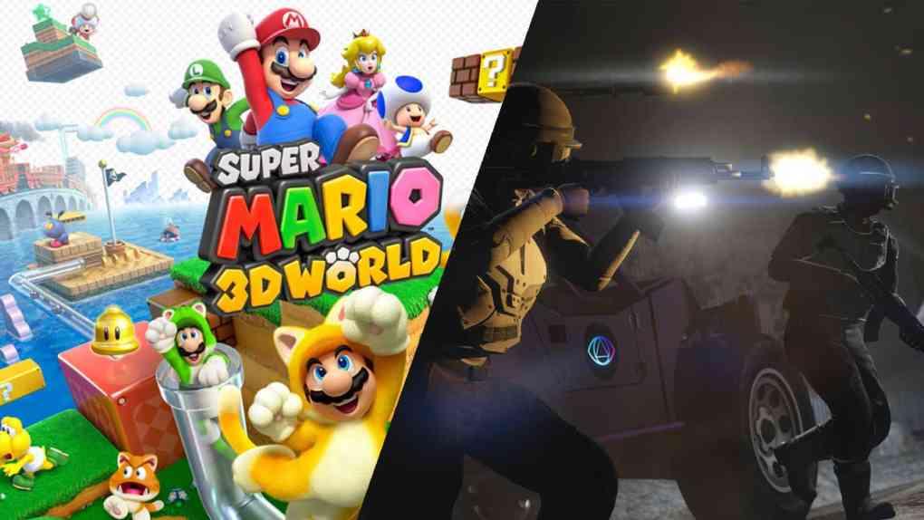 super mario 3D world und gta 5
