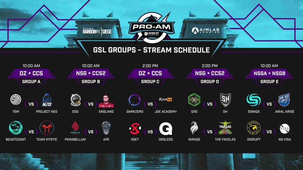 NSG Groups Schedule