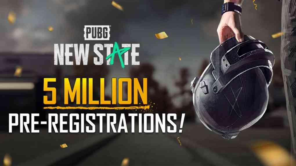 pubg new state 5 millionen registrationen