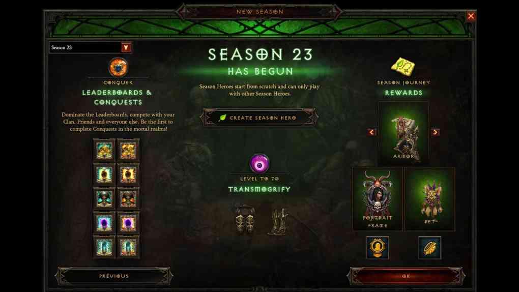 season 23 start uebersicht