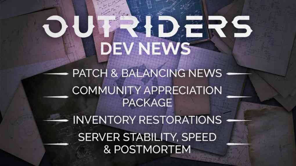 Outriders Patch Update News