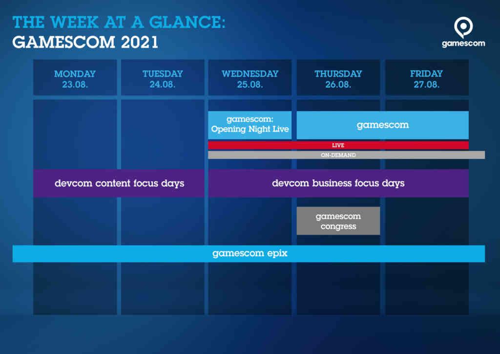 gamescom wochenplan 2021