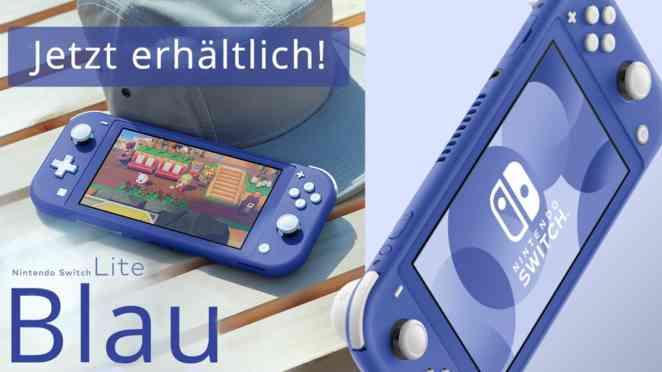 nintendo switch lite blau release