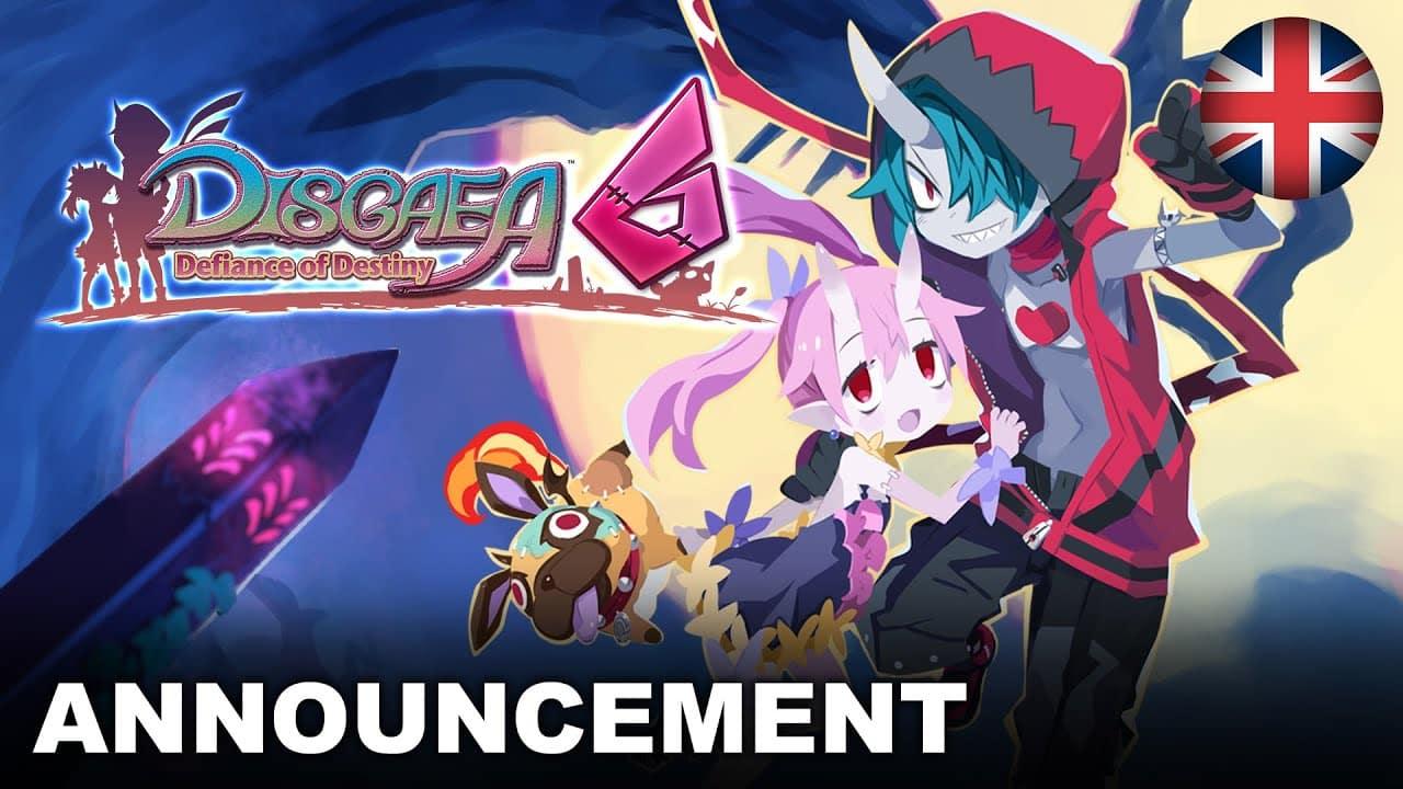Disgaea 6 Defiance of Destiny Announcement Trailer Nintendo Switch EU English