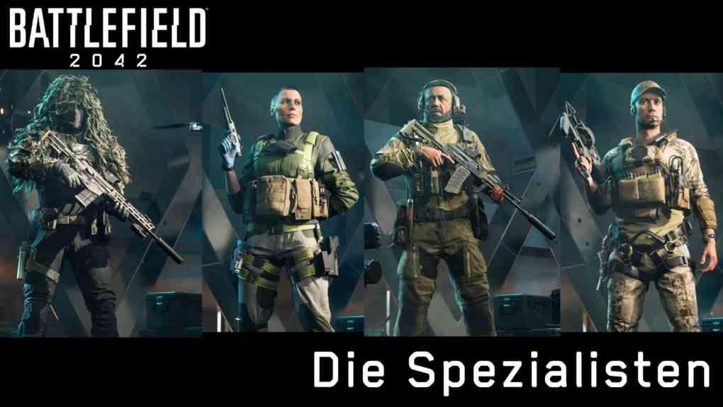 Uebersicht 4 Spezialisten Battlefield 2042