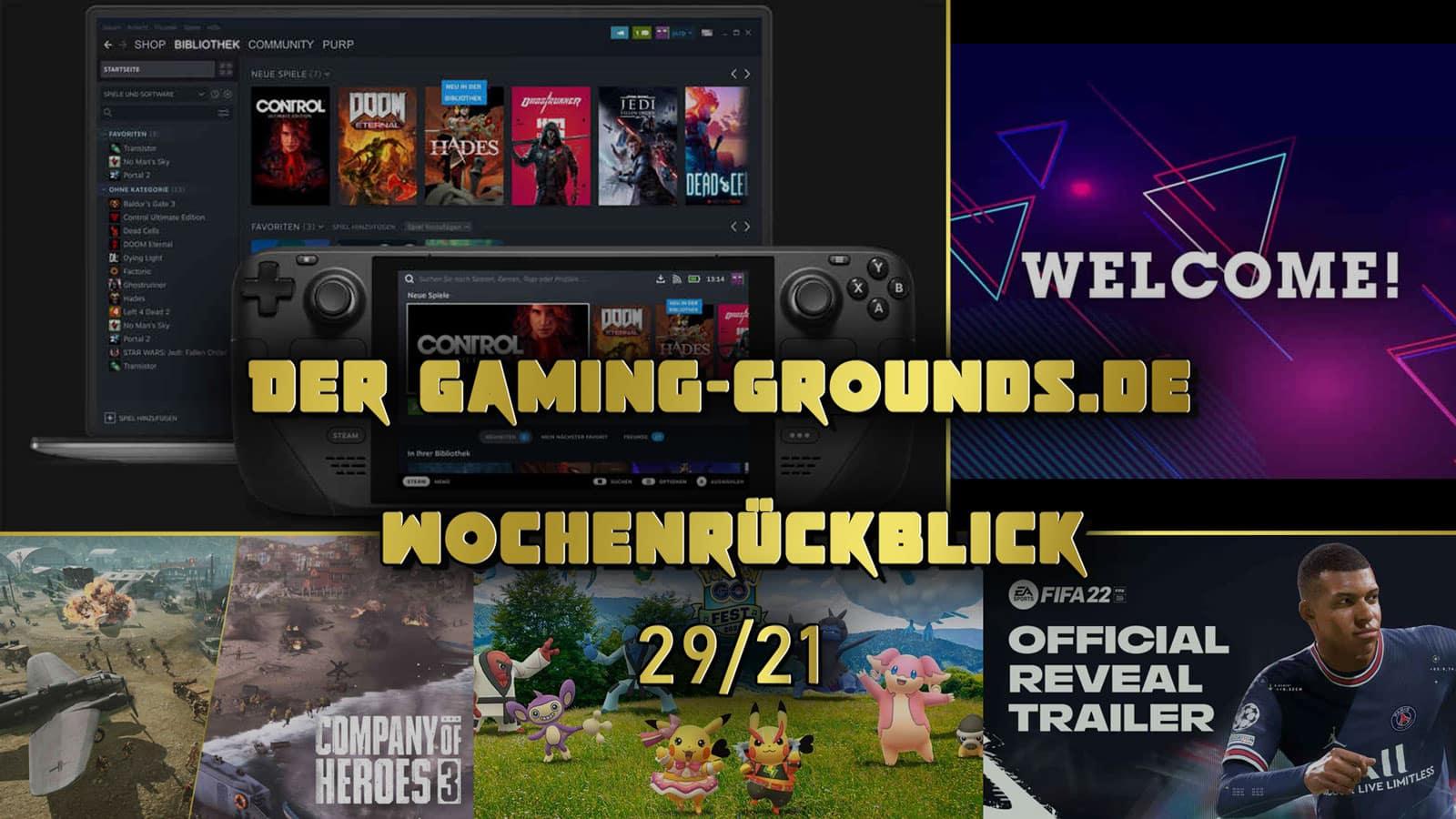 Die Woche 29/21: Steam Deck, FIFA 22, CoH 3 und mehr   gaming-grounds.de