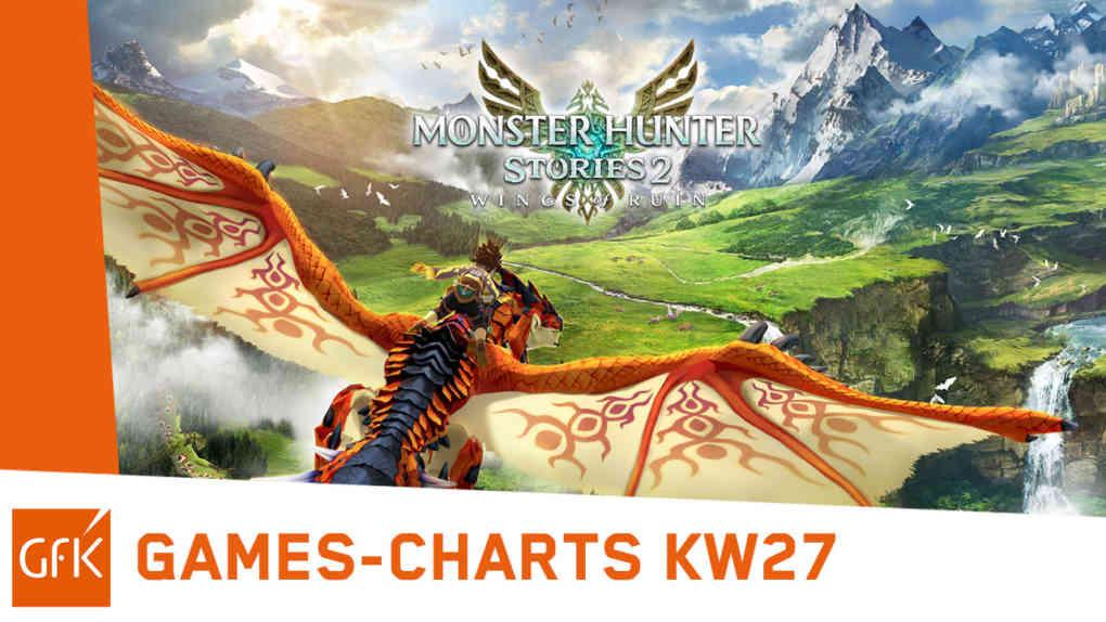 top 2 game charts deutschland 5. 11.7.2021 monster hunter stories 2