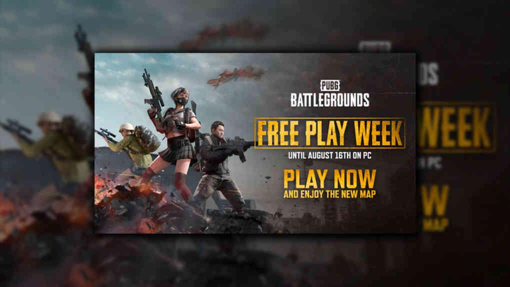 pubg battlegrounds free week