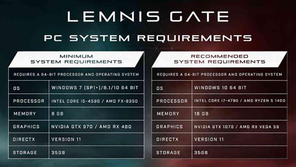 Diese Anforderungen sollte euer System erfüllen, wenn ihr Lemnis Gate spielen wollt. Quelle: Frontier Foundry / Ratloop Games Canada