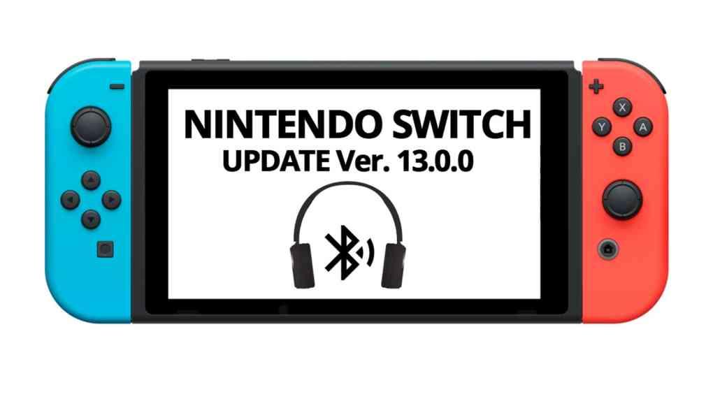 nintendo switch bluetooth audio update