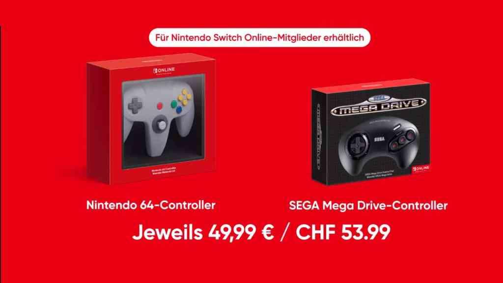 nintendo switch n64 sega mega drive controller