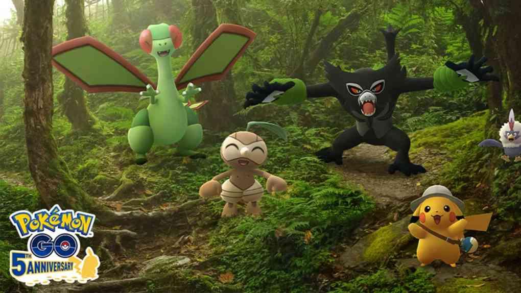 pokemon go film event zarude schattenaffe