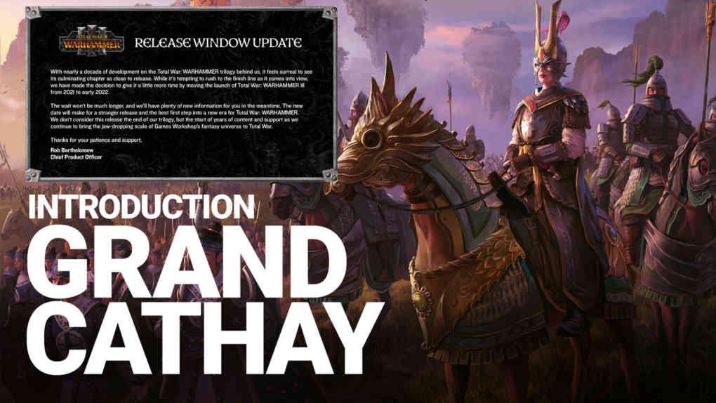 total war warhammer 3 release window update und grand cathay