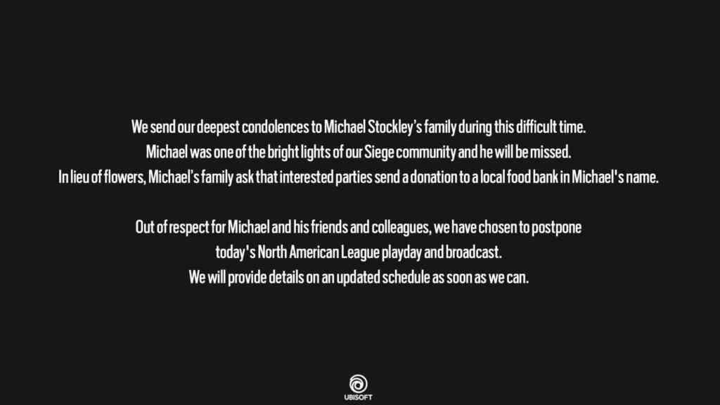 Ubisoft verschiebt NAL Spieltag nach Verkuendung von Michael Stockleys Tod