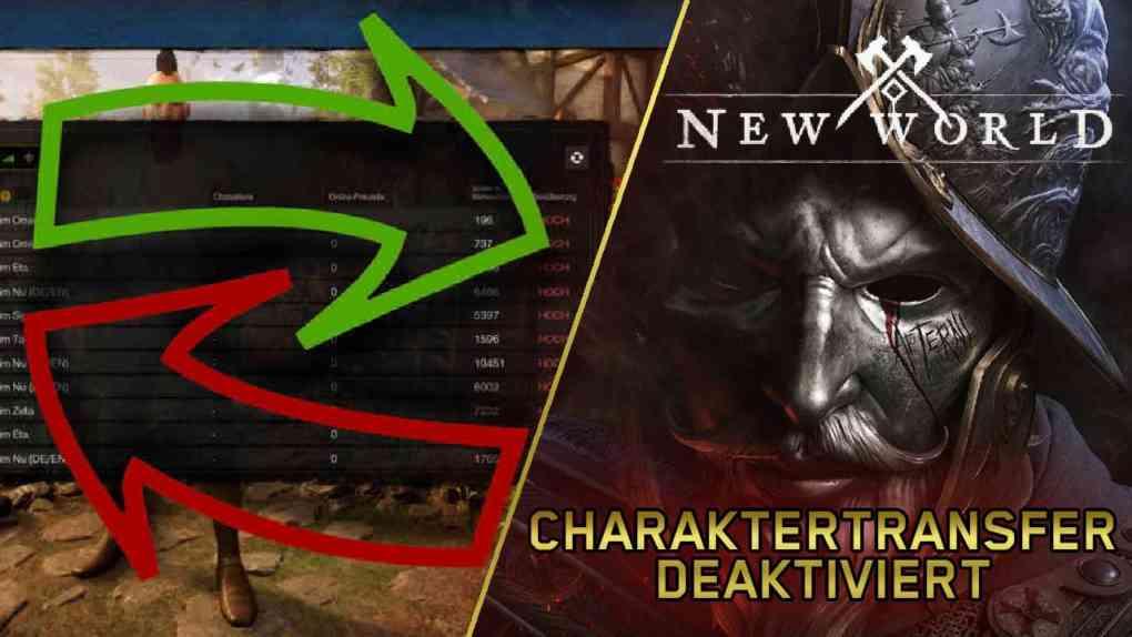 new world charaktertransfer deaktiviert