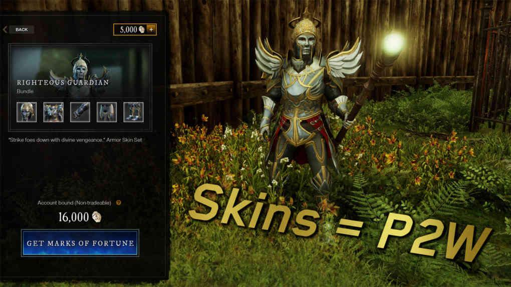 new world skins p2w