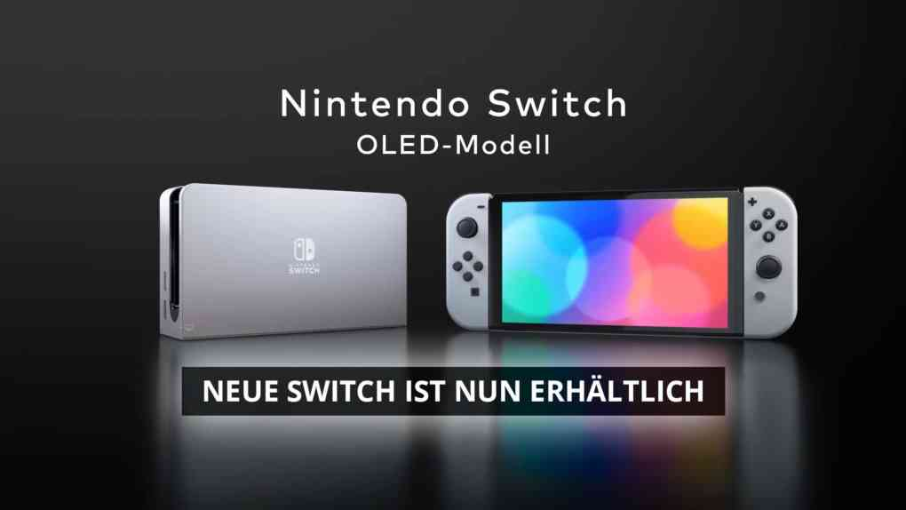 nintendo switch oled ist da