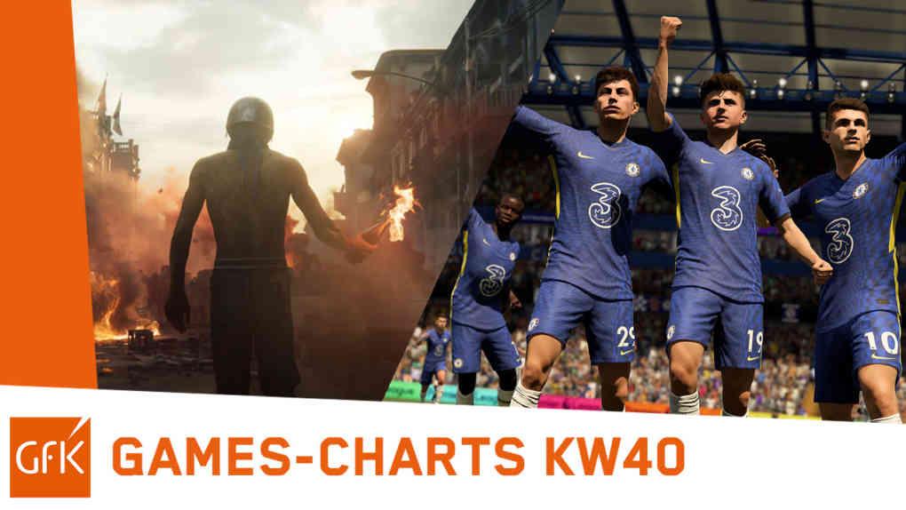 top 2 game charts deutschland kw40 2021 fifa22 far cry 6